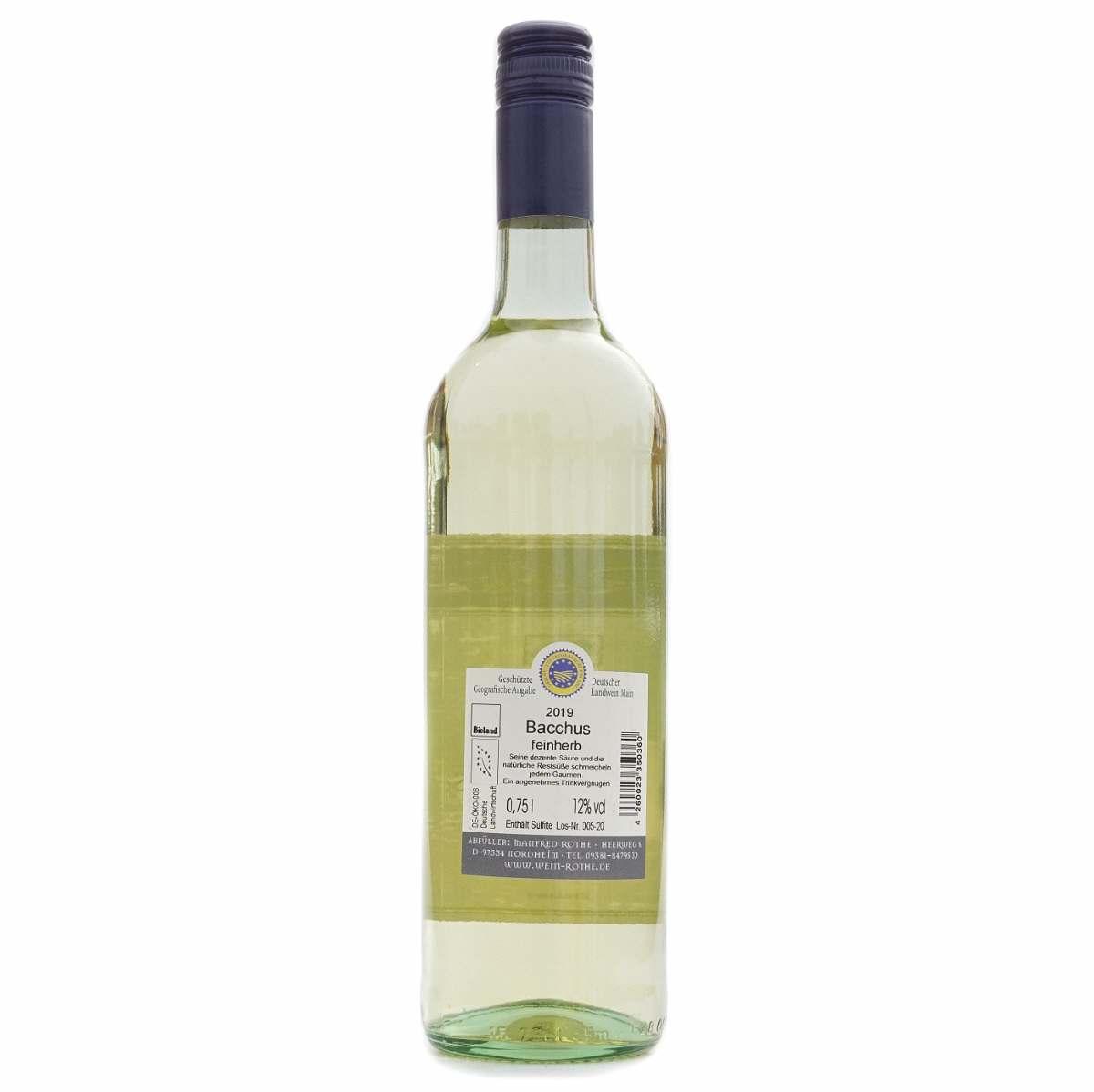 Rothe Bacchus Landwein feinfruchtig 2019